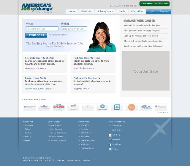 Job Seeker Homepage Preview
